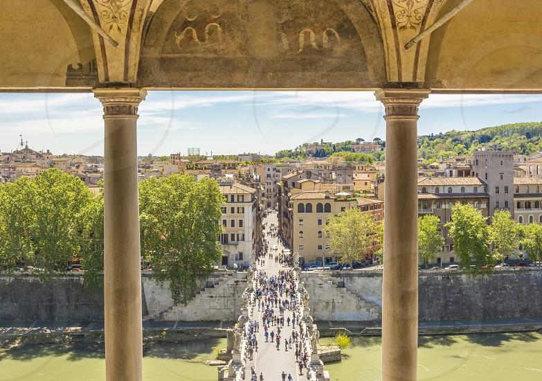Castel Sant'Angelo bridge in Rome photo