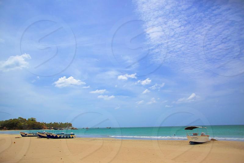 Tropical beach.  Trincomalee Sri Lanka photo