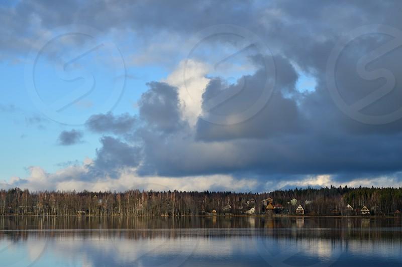 Beautiful lake landscape. photo