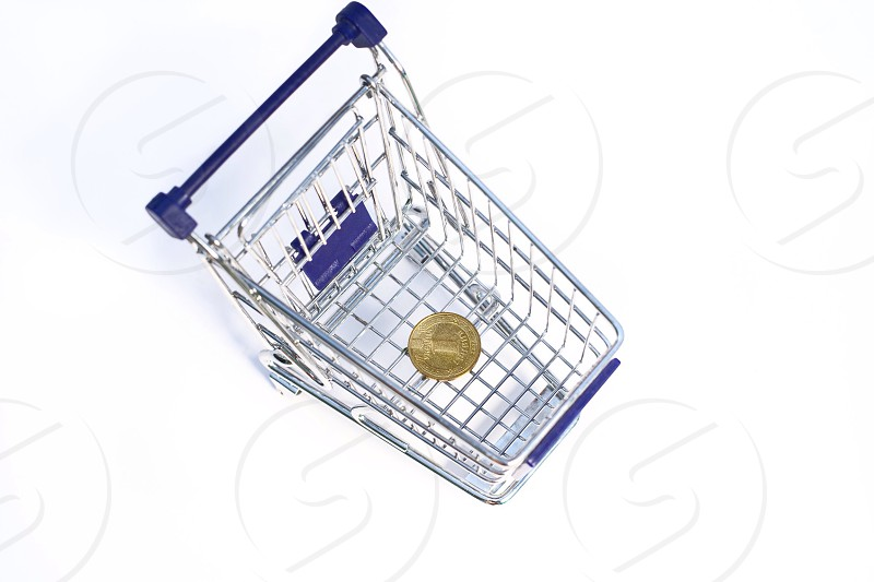 Finance home money dollars wealth trifle basket trolley photo