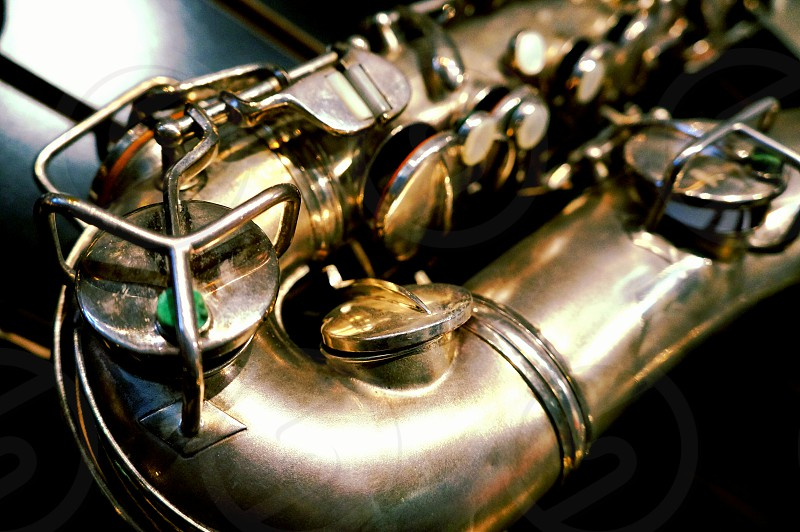 Vintage saxophone photo