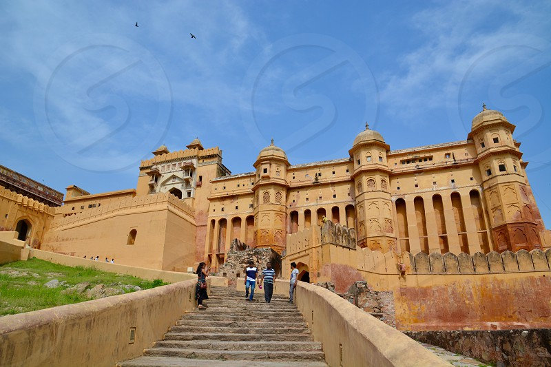 View of the Amber Fort/Palace in Jaipur India photo