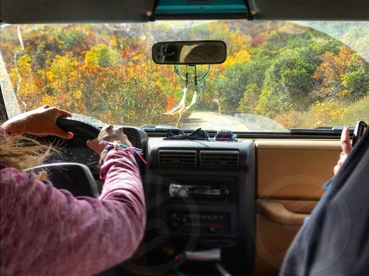 Car drive road trip explore adventure Colorado fall  photo