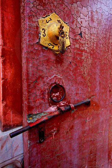 Unique Old Paint Chipped Door photo