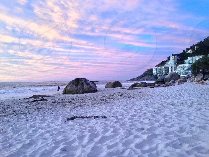 Sunset on Clifton Beach Cape Town photo