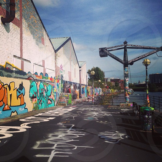 Urban landscape with graffiti salford photo
