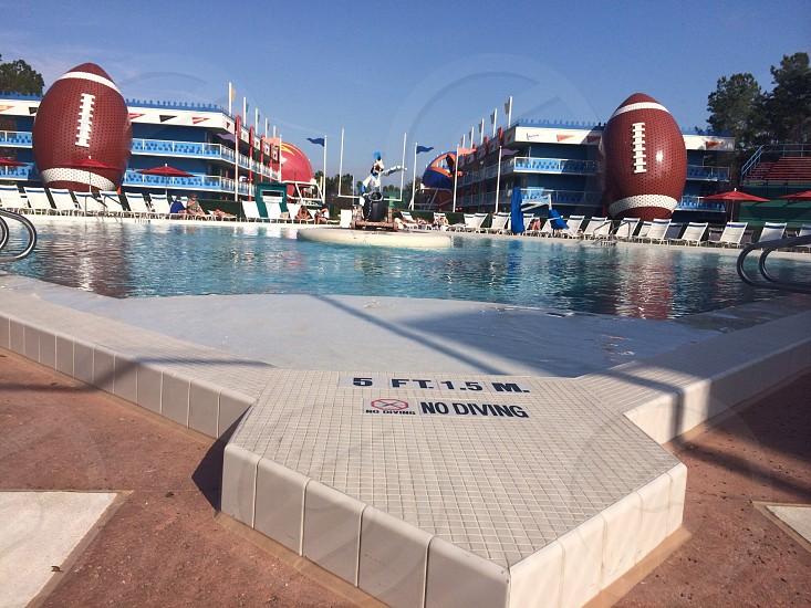 Disney's All Star Sports Resort baseball pool.  photo