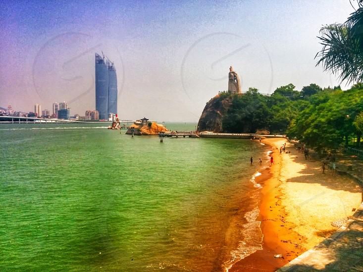 Beautiful beach view in Xiamen China. photo