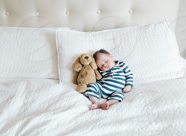 Baby Jack and stuffed animal photo