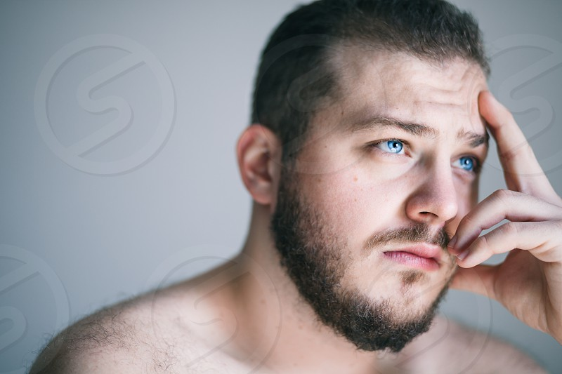Young man with a problem photo