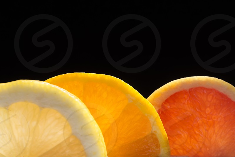 Citrus mix orange lemon grapefruit fruits  photo