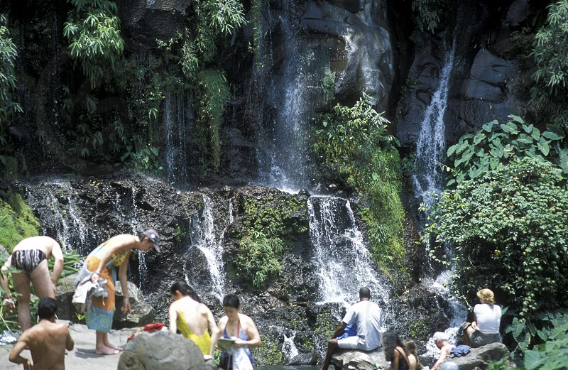 the waterfall and natural parc of La Ravine St Gilles bei St Gilles les Bains on the Island of La Reunion in the Indian Ocean in Africa. photo