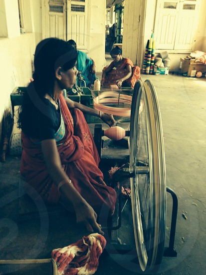 Disabled women working for a living! photo