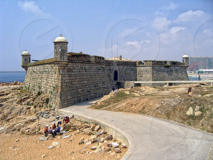 Fort of São Francisco do Queijo in Porto with canons. photo