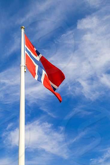 Norwegian Flag Norway Nationality Sky Flag Wind Blowing Country By Susanne Alfredsson Photo Stock Snapwire