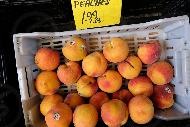 Peaches farmers market fresh produce  photo