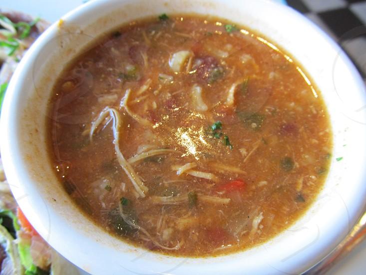 Brazillean chicken soup photo