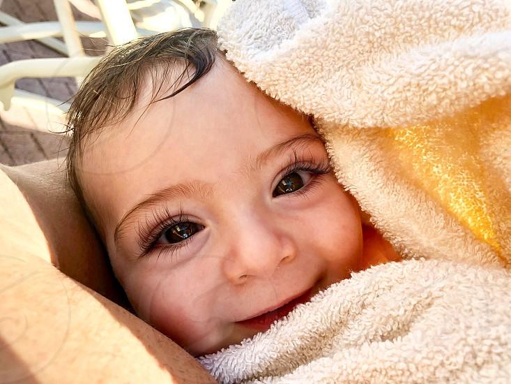 Baby toddler cute eye lashes baby boy photo