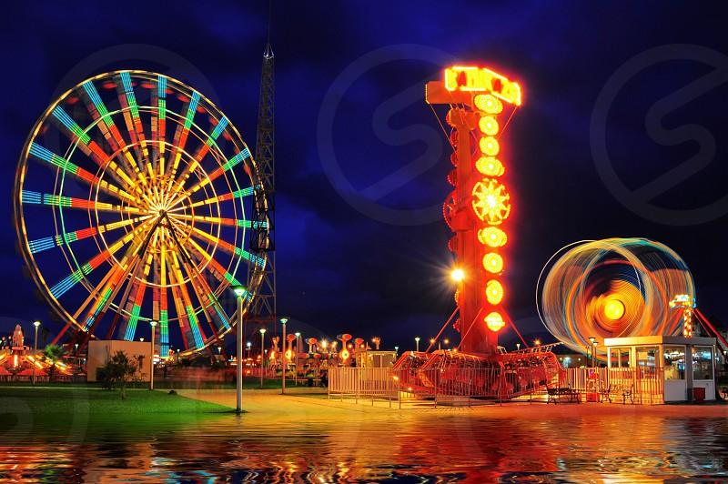 ferris wheel in circus photo