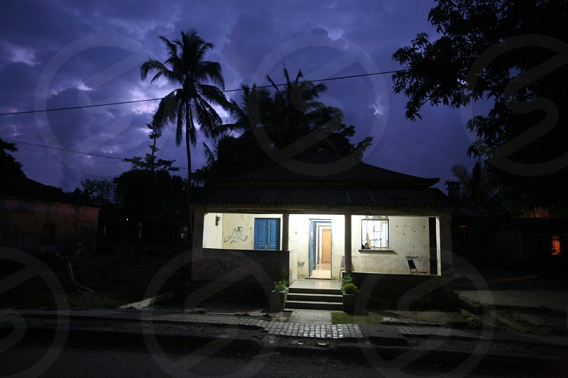 a house in the village of Lospalos in the south of East Timor in southeastasia. photo