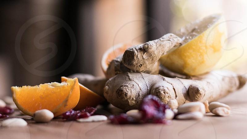gigner lemon orange cranberries nuts photo