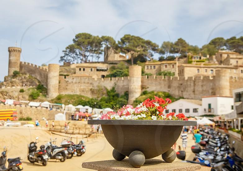 Spain holiday Tossa de Mar sun fun photo