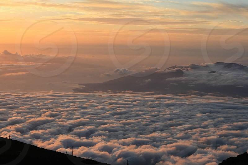 Haleakala at sunset.  photo