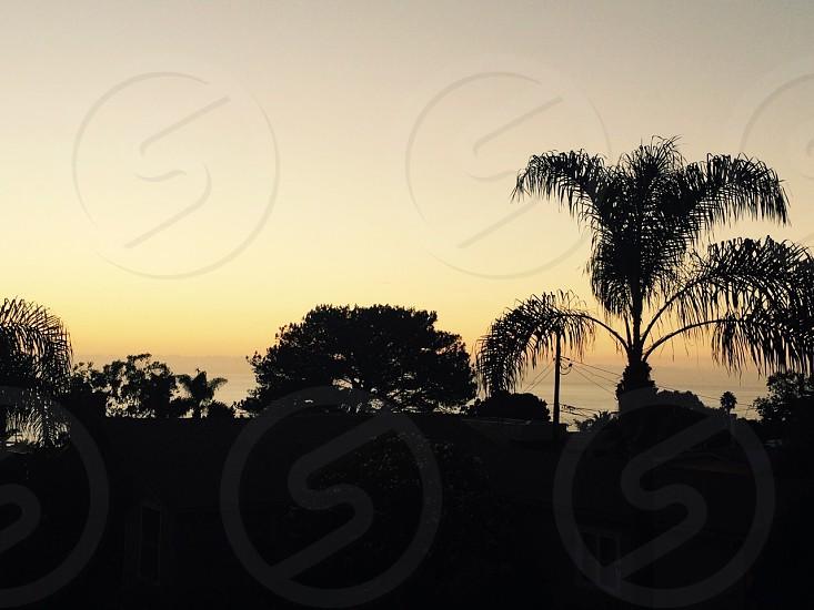 Sunset in Laguna Beach California  photo