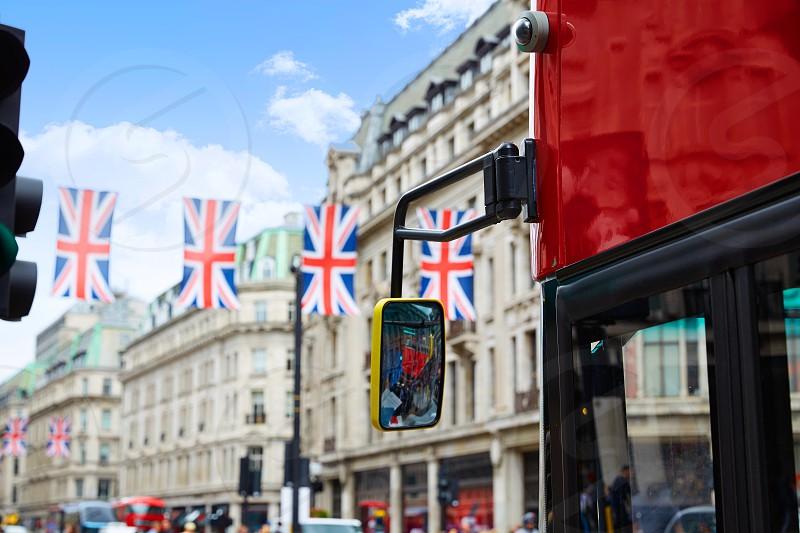 London bus Regent Street W1 Westminster in UK England photo