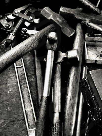 black handled hammer photo