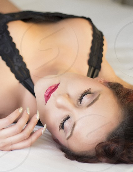 Woman upside down photo