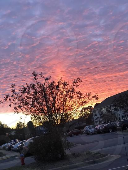 Sunset; evening photo