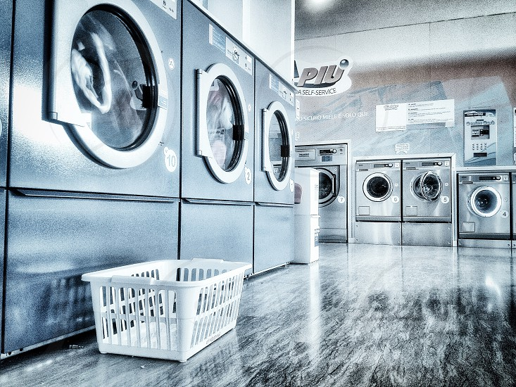 silver front load washing machines photo