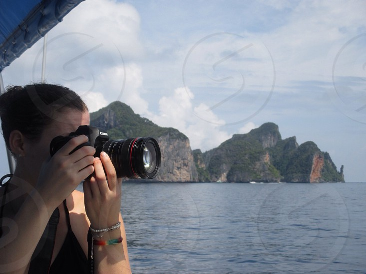Photographer travel boat thailand  photo