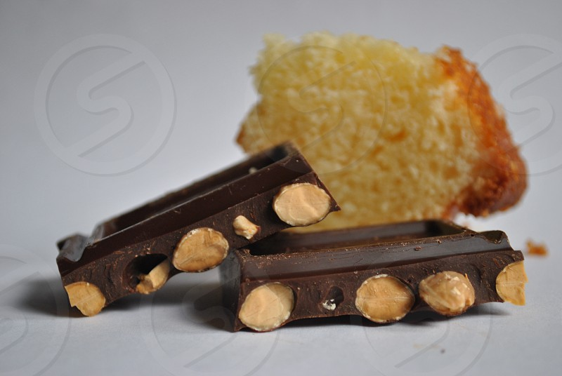chocolate with peanuts photo