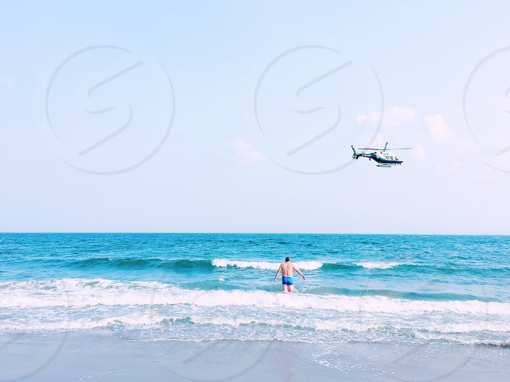 Beach helicopter  photo
