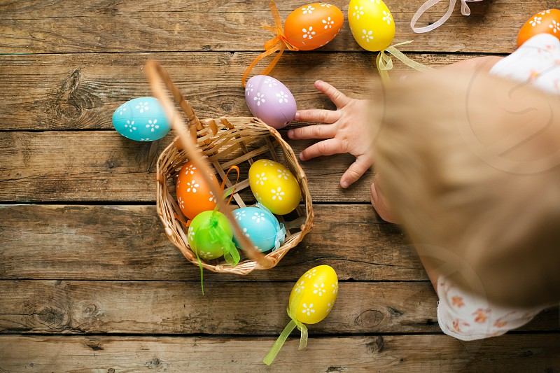 It's Easter time baby kid eggssweet colored colorful warm boy home wood holiday photo
