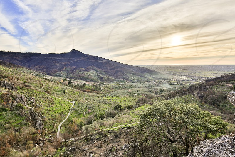 Landscape of the hills of Pisa in Tuscany photo