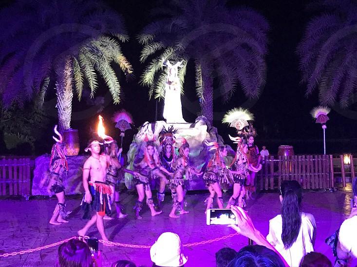 Performance at Chiang Mai Night Safari Thailand photo