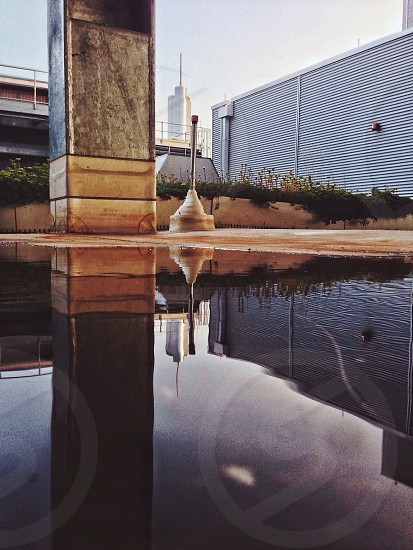 Chicago from a puddle photo