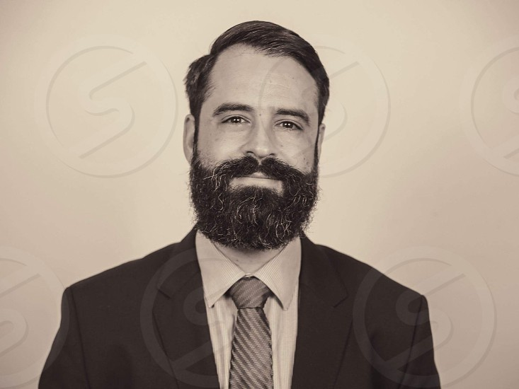 corporate branding portrait - man with beard photo