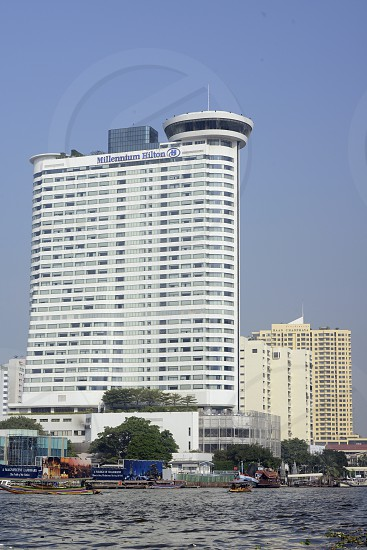 the Hotel Hilton at the Mae Nam Chao Phraya River in the city of Bangkok in Thailand in Southeastasia. photo