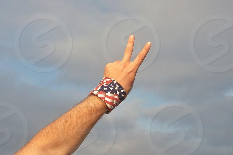 american flag wristband photo