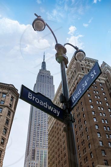 Manhattan New York city Broadway 6th Av downtown NYC US photo