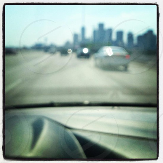 Blurry Dallas Skyline photo