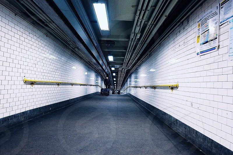 white bricked wall photo