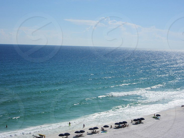 Destin Florida beach water ocean waves sea swim summer sunny spring spring break warm cold america south photo