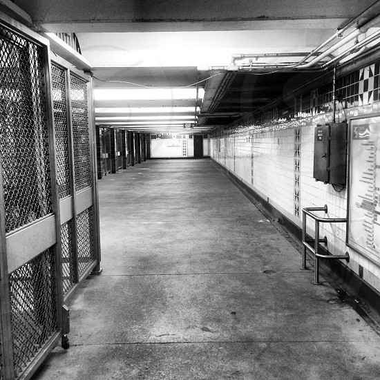 Empty. Subway.  photo