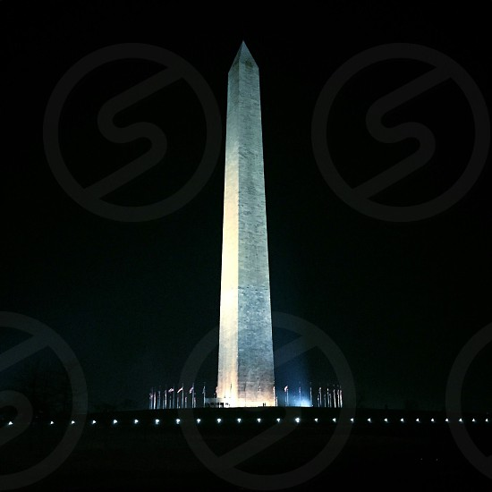 Washington DC monument politics white house america usa night photo