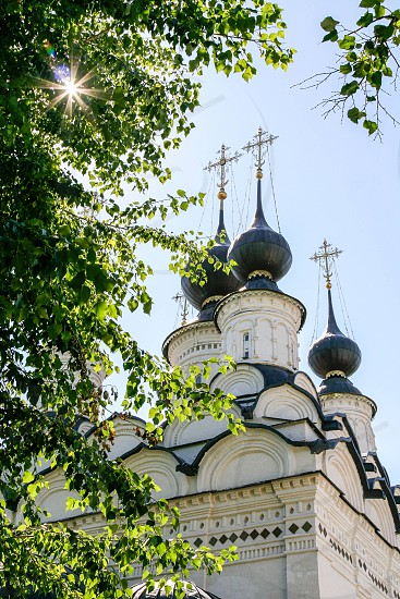 Domes of St. Antipy Church Russia Suzdal photo